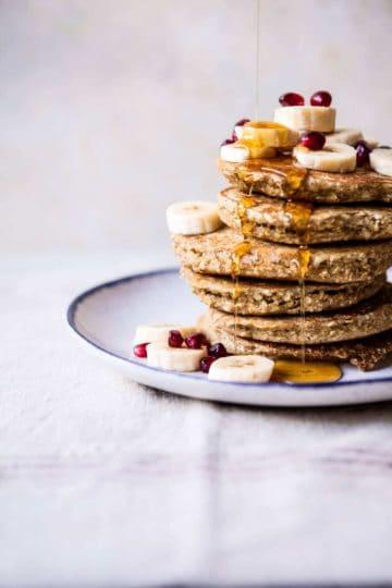 Healthy Chai Banana Pancakes.