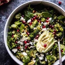 Lemon Garlic Roasted Broccoli Salad.