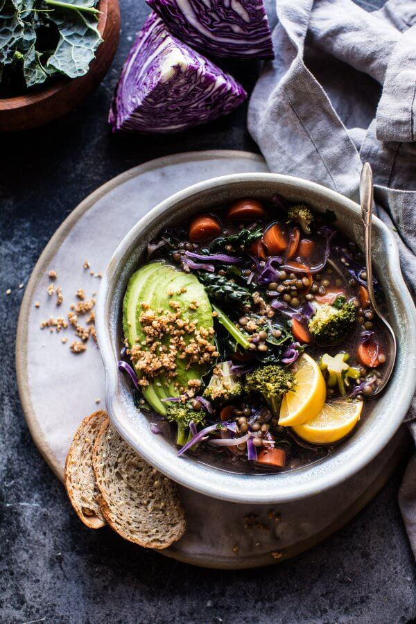 Mean Green Detox Vegetable Soup.