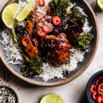 30 Minute Teriyaki Chicken with Sesame Ginger Broccoli.