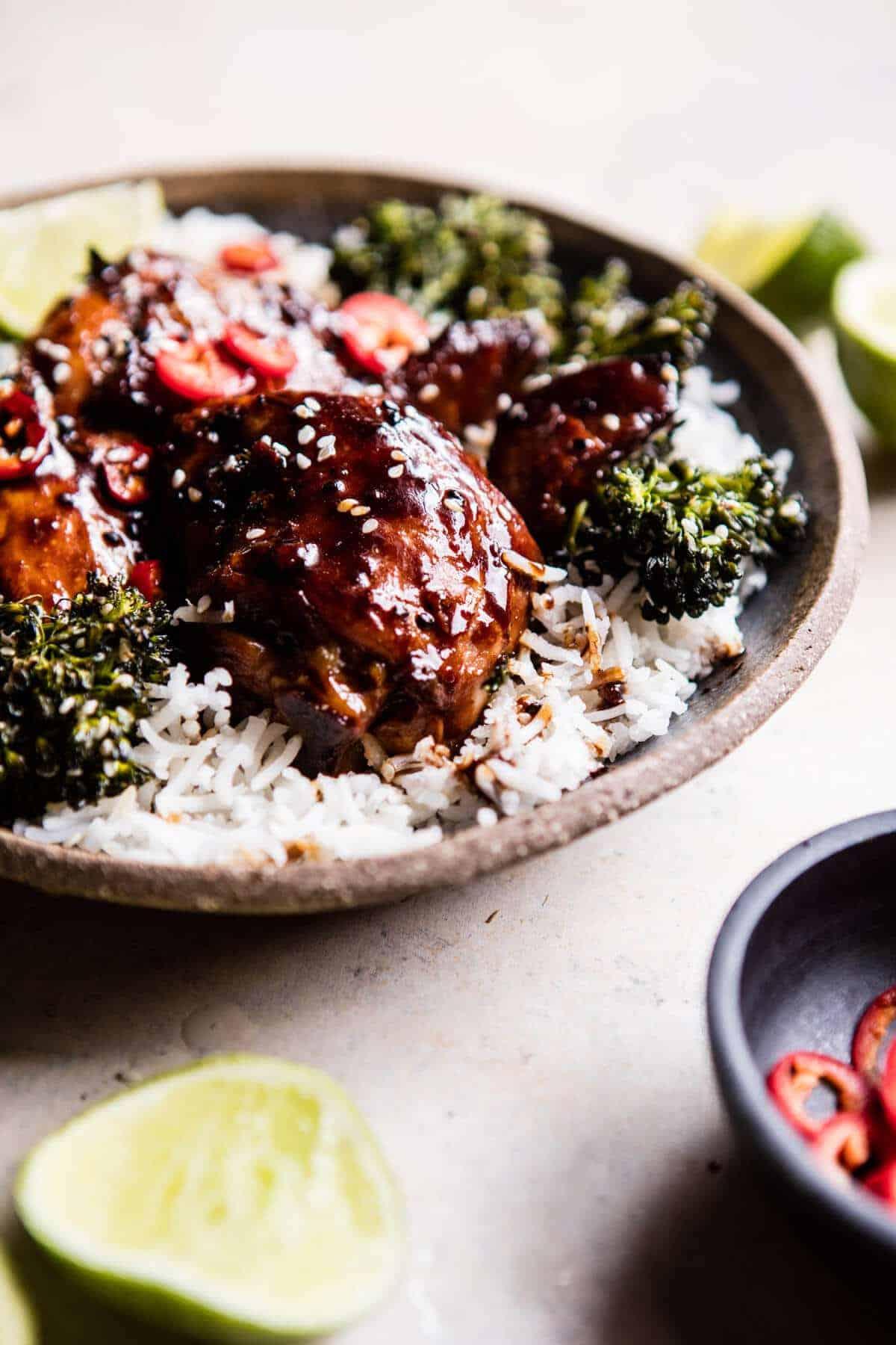 30 Minute Teriyaki Chicken with Sesame Ginger Broccoli | halfbakedharvest.com @hbharvest