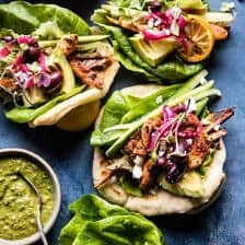 Greek Goddess Chicken Lettuce Wraps.