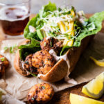 Lighter Shrimp Po Boys with Avocado Mango Slaw | halfbakedharvest.com @hbharvest