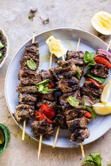 Mediterranean Grilled Lamb Kebabs.