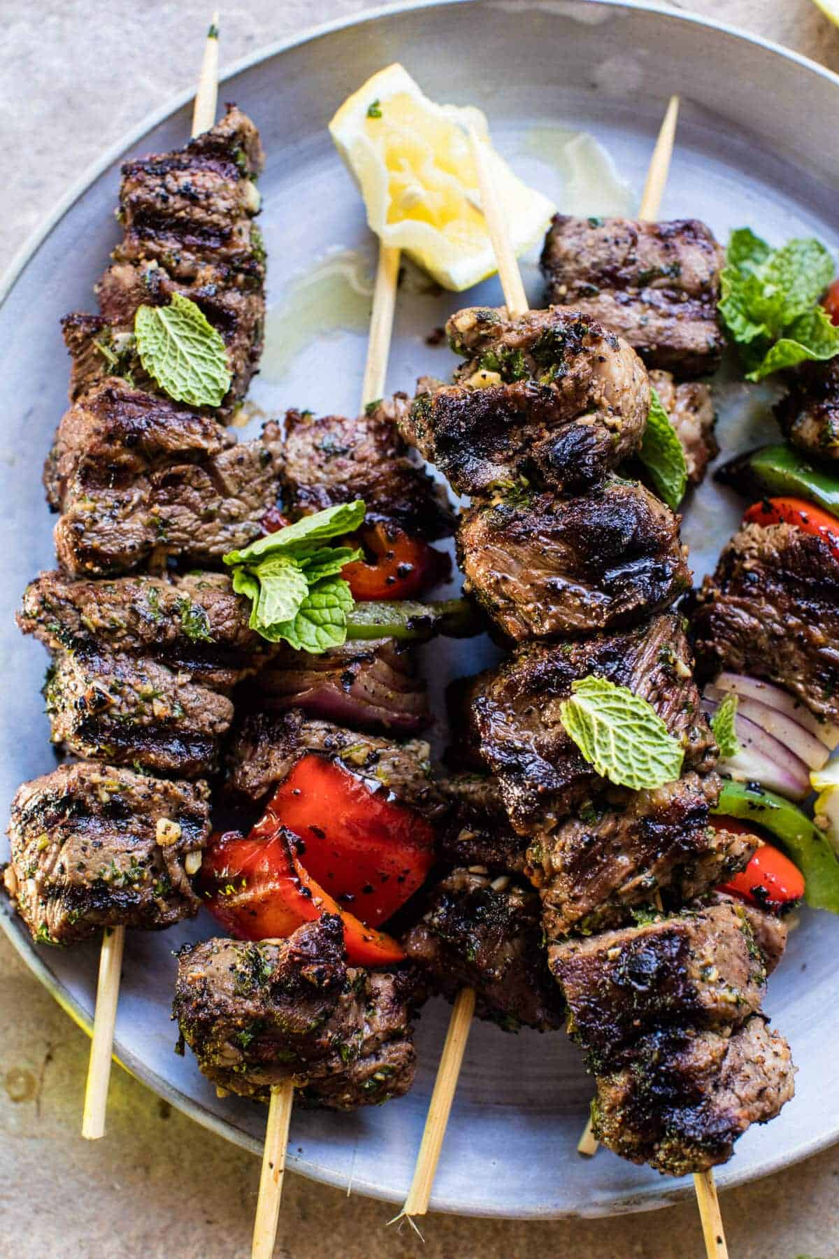 Mediterranean Grilled Lamb Kebabs | halfbakedharvest.com @hbharvest