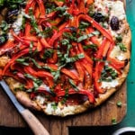 Mediterranean Roasted Red Pepper Pizza.