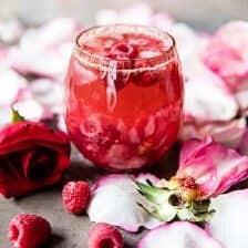 Raspberry Rose Tequila Kombucha.