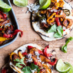 Sheet Pan Poblano Chicken Fajitas.