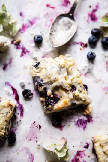 Blueberry Lemon Poppy Seed Scones.