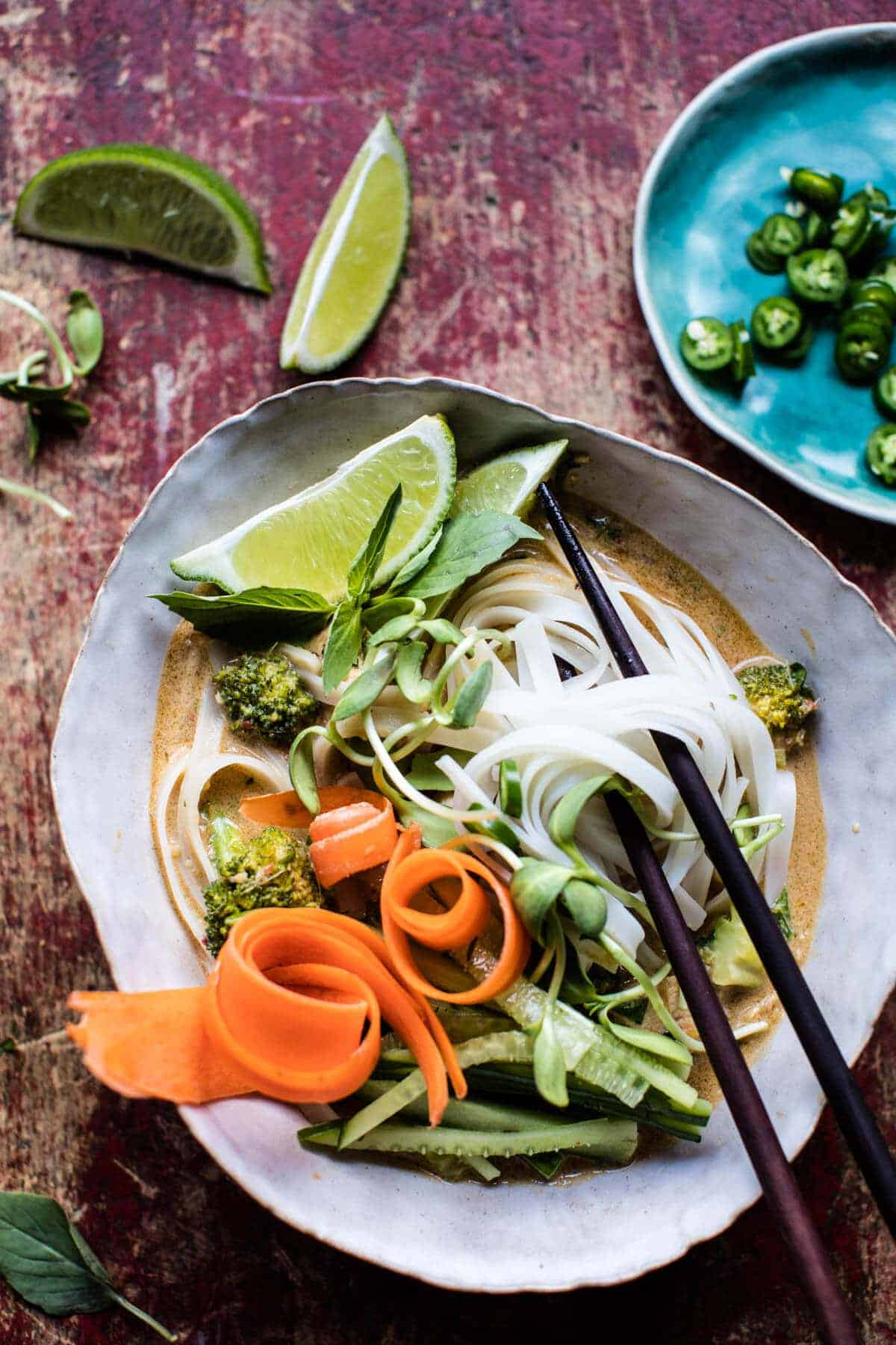 Coconut Lime Chicken Curry with Rice Noodles | halfbakedharvest.com @hbharvest