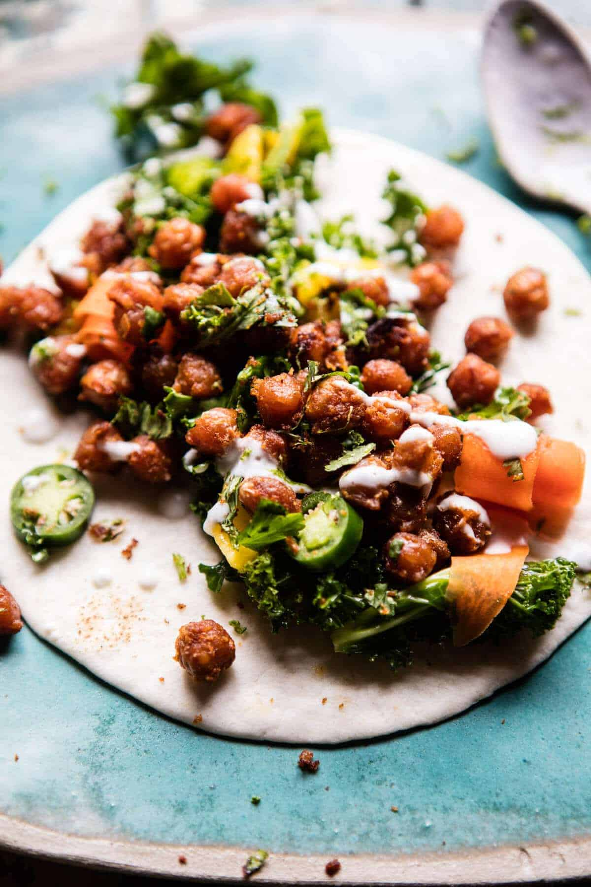 Crunchy Tandoori Chickpea Wraps | halfbakedharvest.com @hbharvest