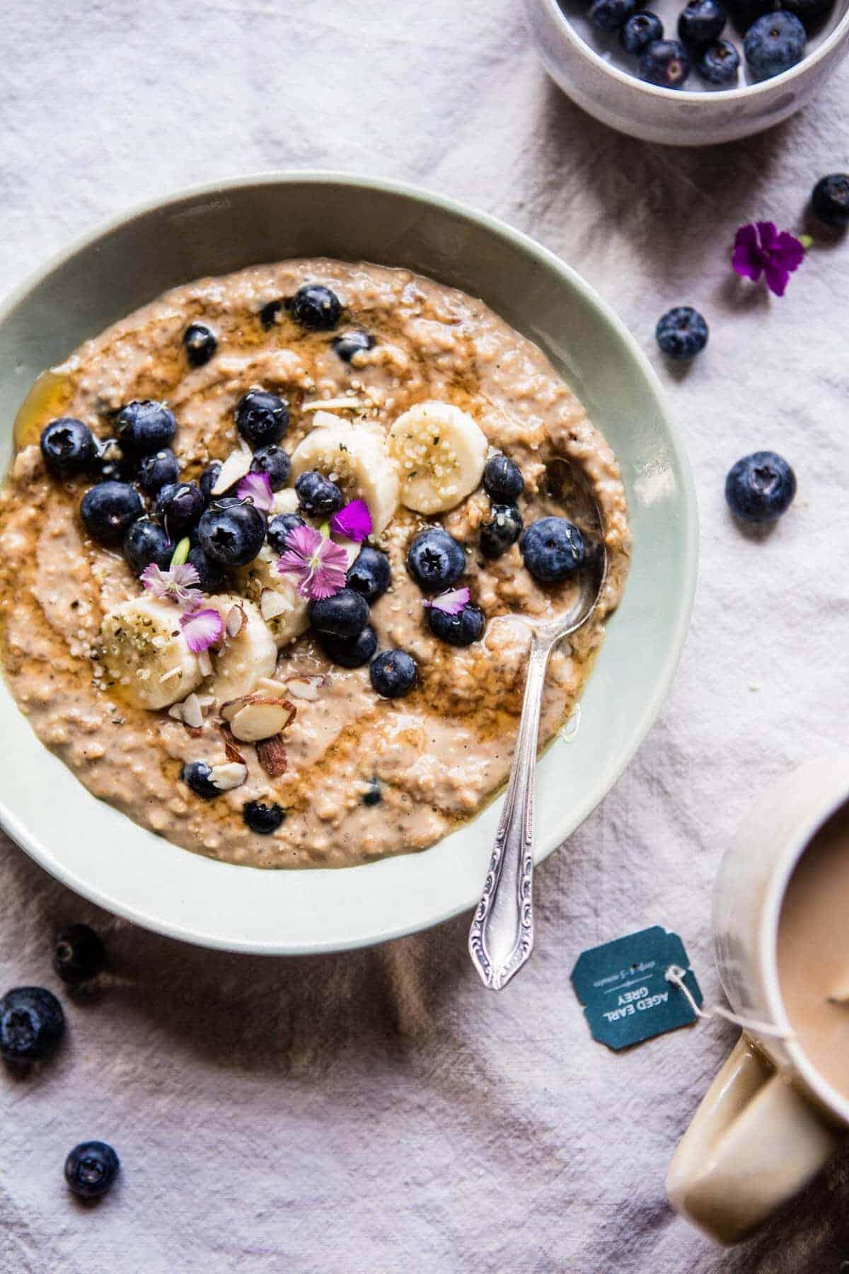 Earl Grey Blueberry Oatmeal | halfbakedharvest.com @hbharvest