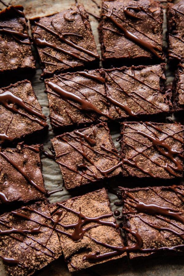One Bowl 8 Ingredient Irish Coffee Fudge Brownies | halfbakedharvest.com @hbharvest