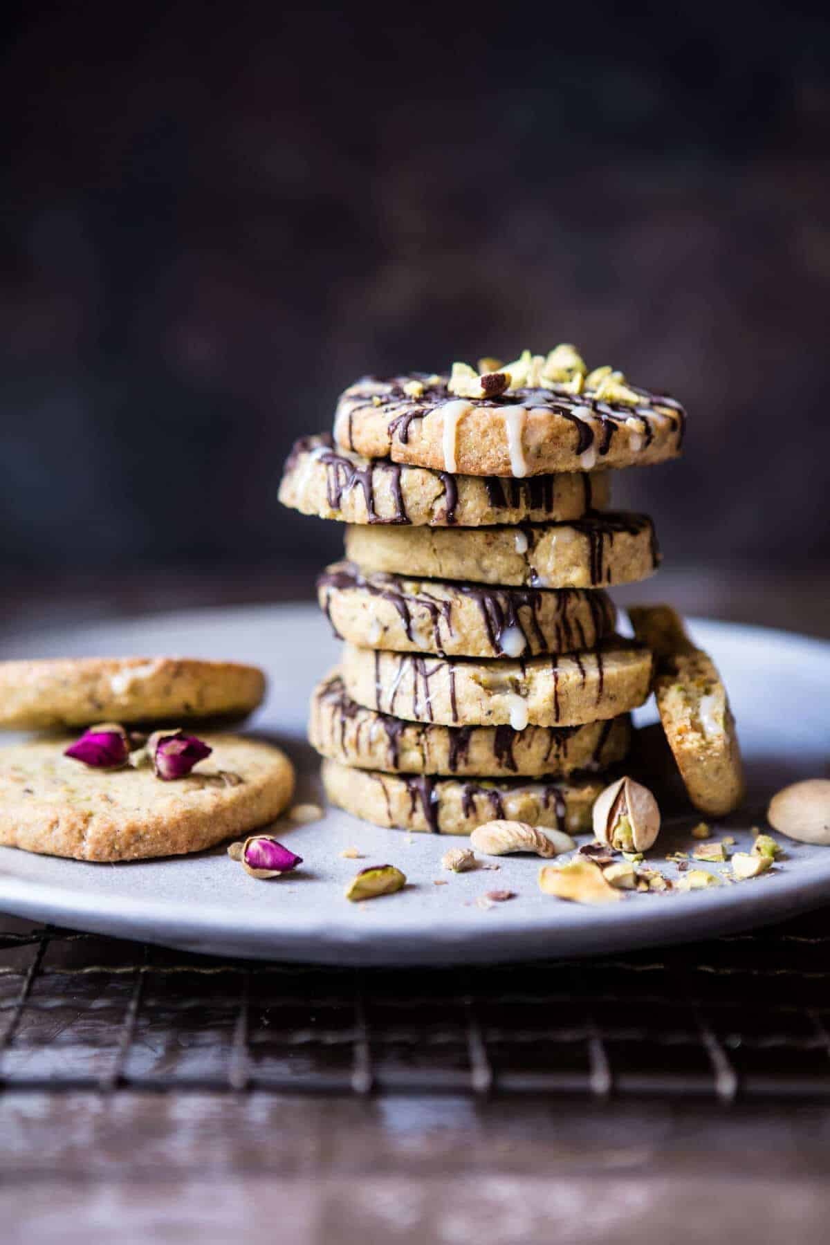 Pistachio Butter Cookies with Chocolate Tres Leches Drizzle | halfbakedharvest.com @hbharevest