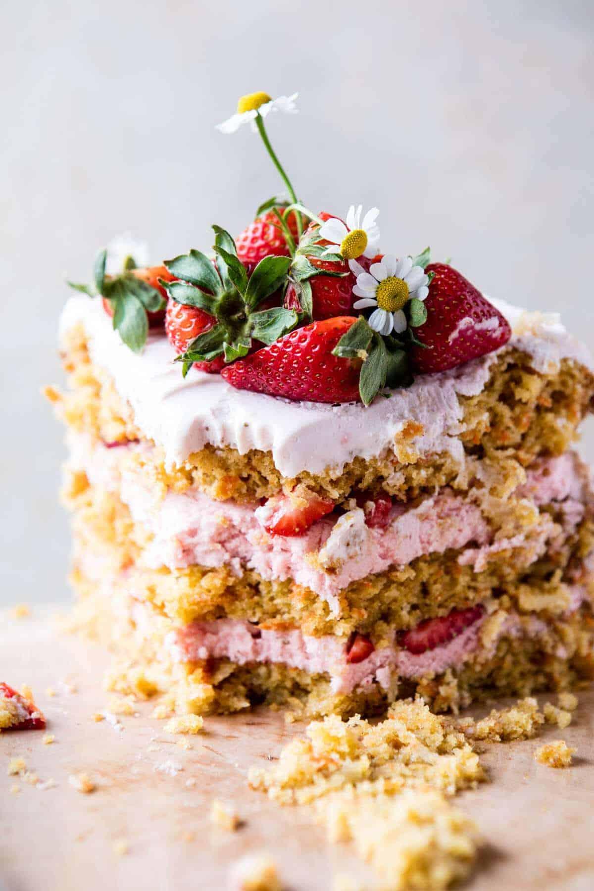 Strawberry Coconut Carrot Cake with Mascarpone Buttercream | halfbakedharvest.com @hbharvest