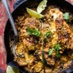 8 Ingredient Cheesy Green Chile Chicken | halfbakedharvest.com @hbharvest