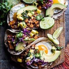 Breakfast Tacos Al Pastor.