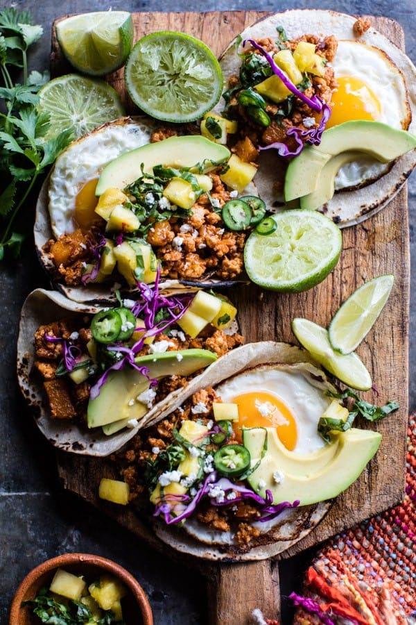 Breakfast Tacos Al Pastor | halfbakedharvest.com @hbharvest