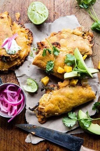 Cheesy Chipotle Adobo Chicken Quesadillas | halfbakedharvest.com @hbharvest