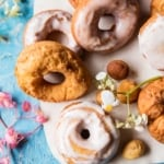 Easy Lemon Ricotta Old Fashioned Doughnuts.