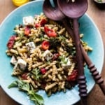 Greek Lemon Roasted Broccoli Pasta Salad.