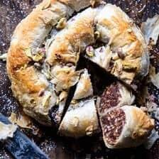 Moroccan Chocolate Almond Phyllo Cake (Snake Cake).