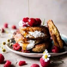 Raspberry Ricotta Croissant French Toast.