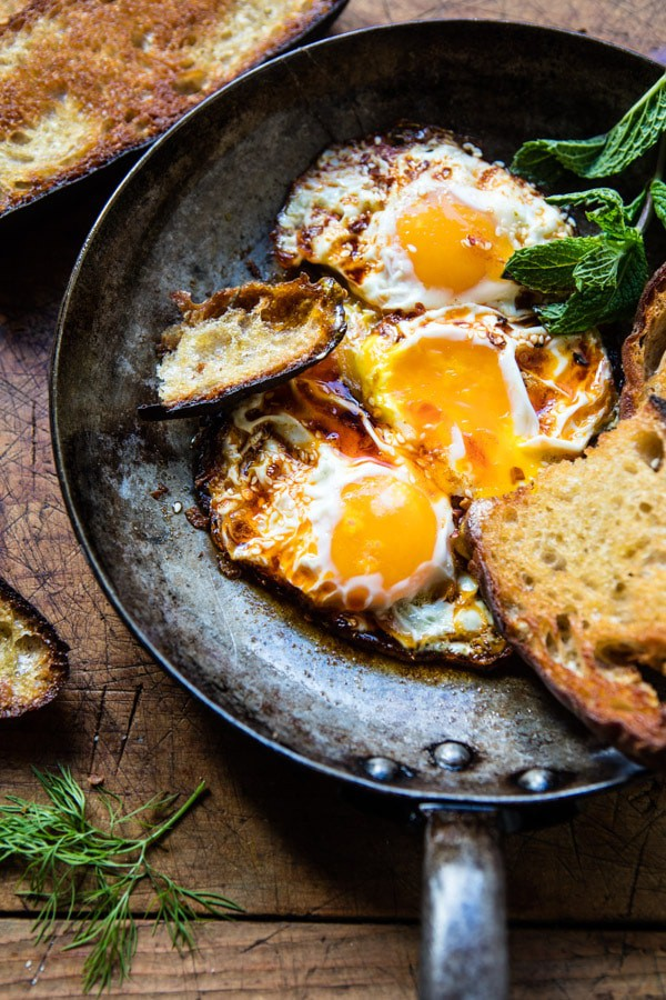 Spicy Moroccan Fried Eggs | halfbakedharvest.com @hbharvest