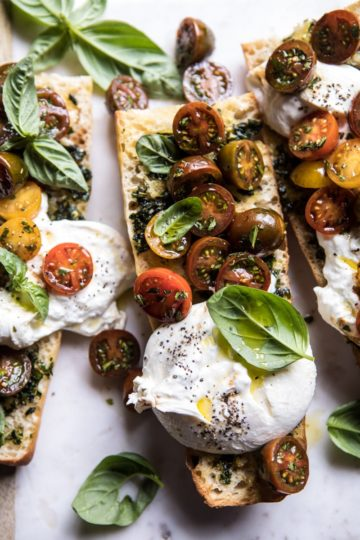Caprese Burrata Garlic Bread.