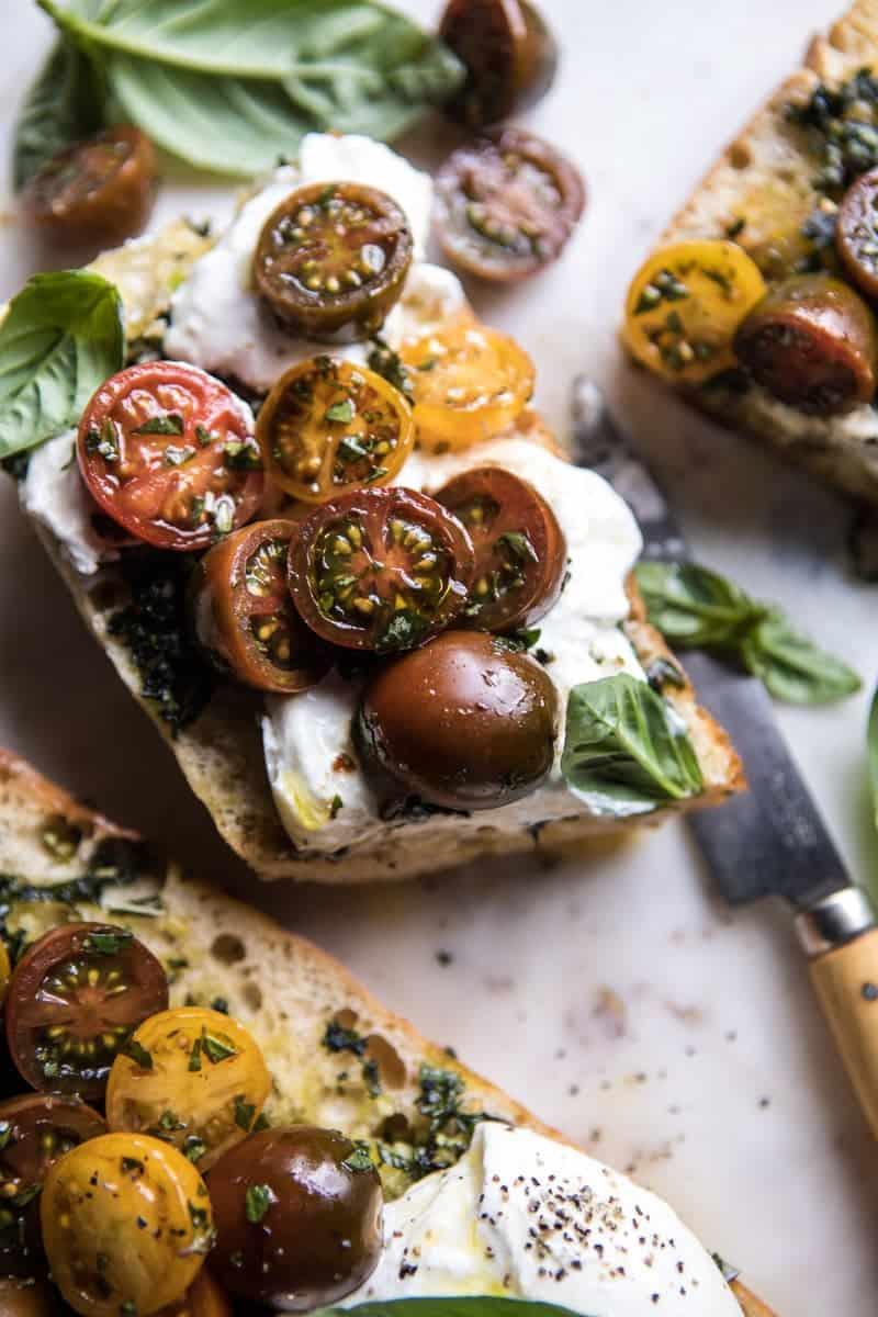 Caprese Burrata Garlic Bread | halfbakedharvest.com @hbharvest