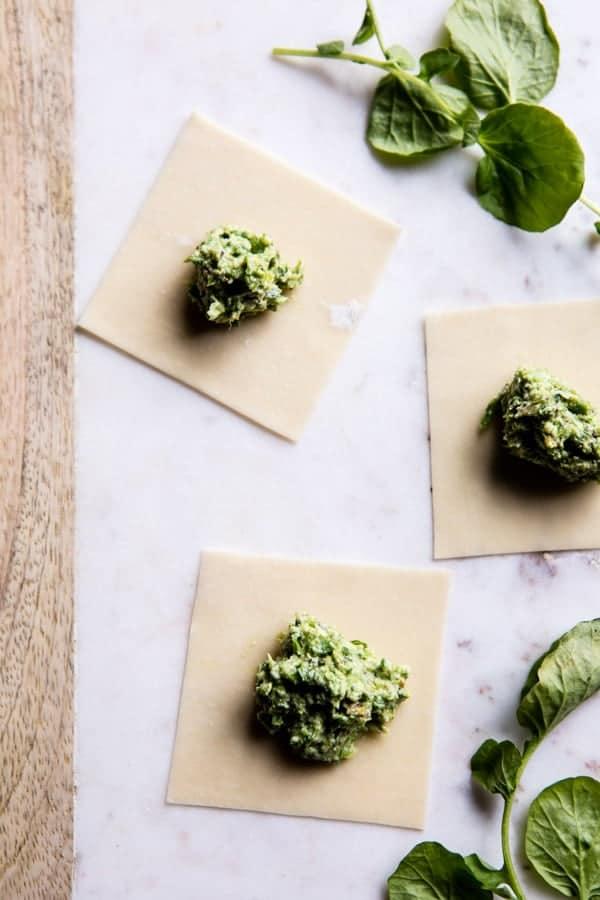 Easiest Lemon Ricotta Asparagus Ravioli | halfbakedharvest.com @hbharvest