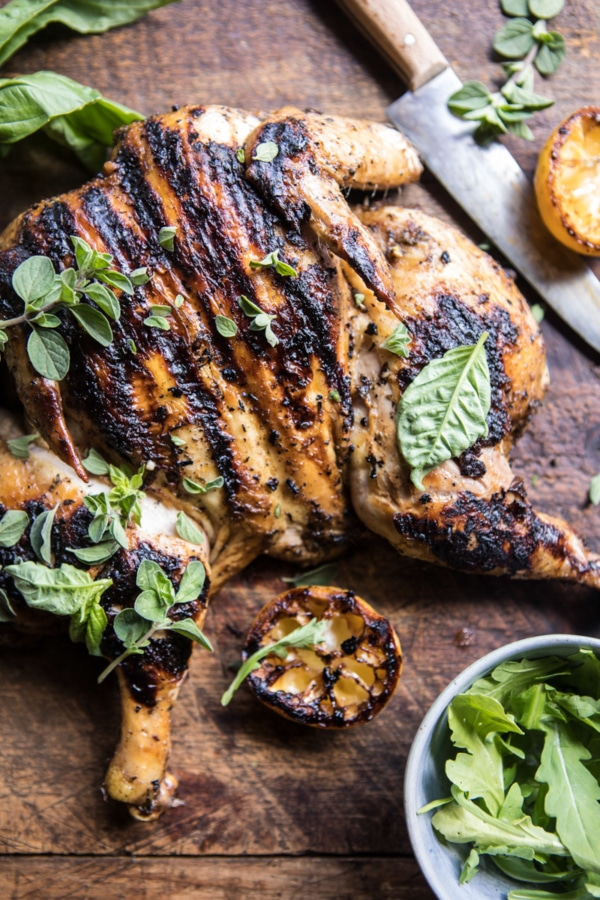 Lemon and Oregano Grilled Chicken.