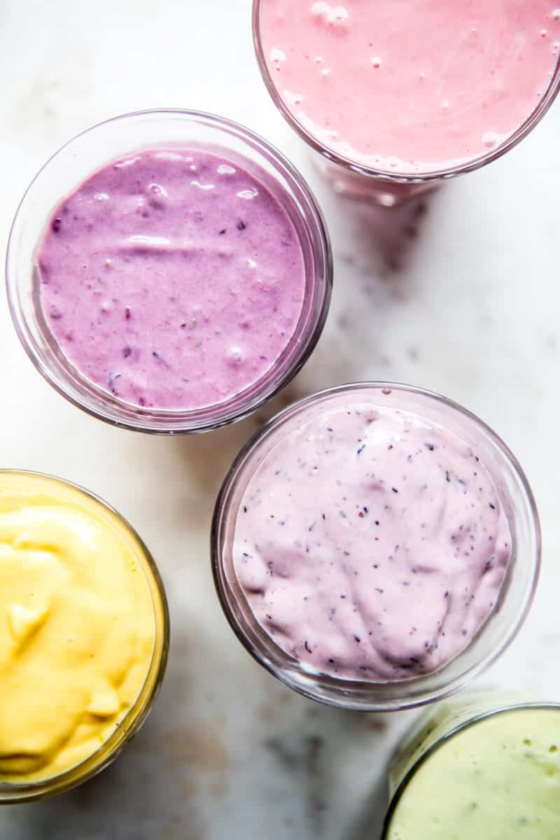 Rainbow Frozen Yogurt Pops | halfbakedharvest.com @hbharvest