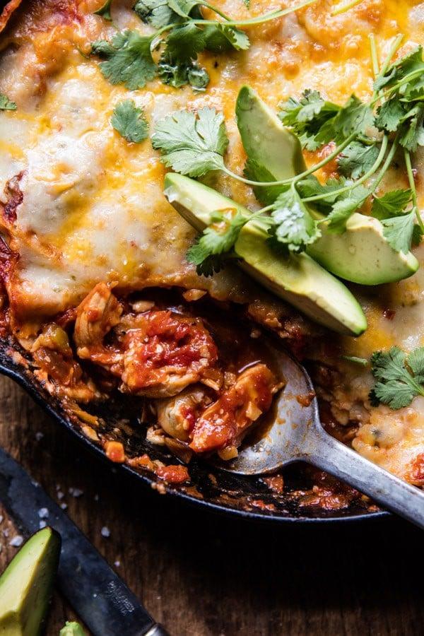 Skillet Chicken Tinga Enchiladas | halfbakedharvest.com @hbharvest