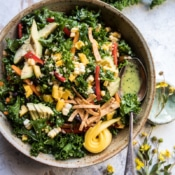 Southwest Mango, Kale, and Quinoa Chopped Salad.