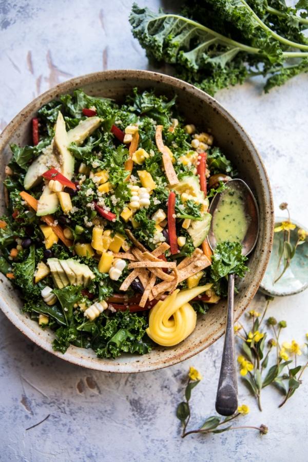 Southwest Mango, Kale, and Quinoa Chopped Salad | halfbakedharvest.com @hbharvest
