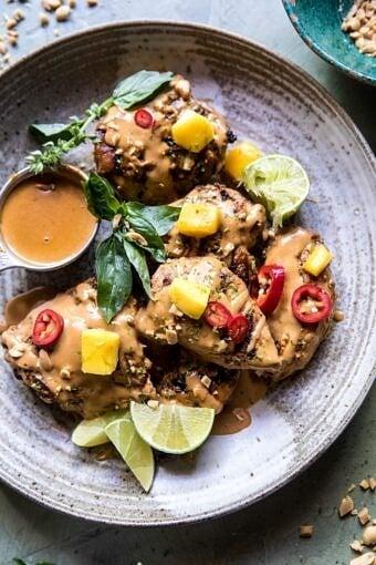 Grilled Thai Satay Chicken | halfbakedharvest.com @hbharvest