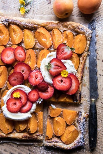 Honey Strawberry Apricot Tart.