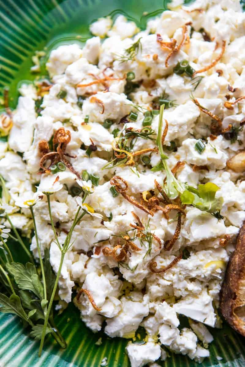 Lemon Feta Dip with Garlic Tomato Vinaigrette | halfbakedharvest.com @hbharvest