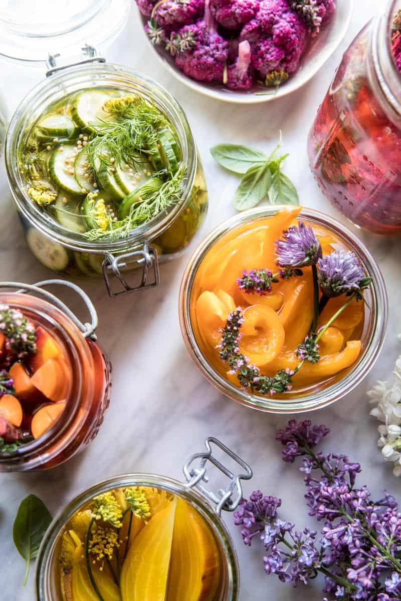 Quick Pickled Veggies | halfbakedharvest.com @hbharvest
