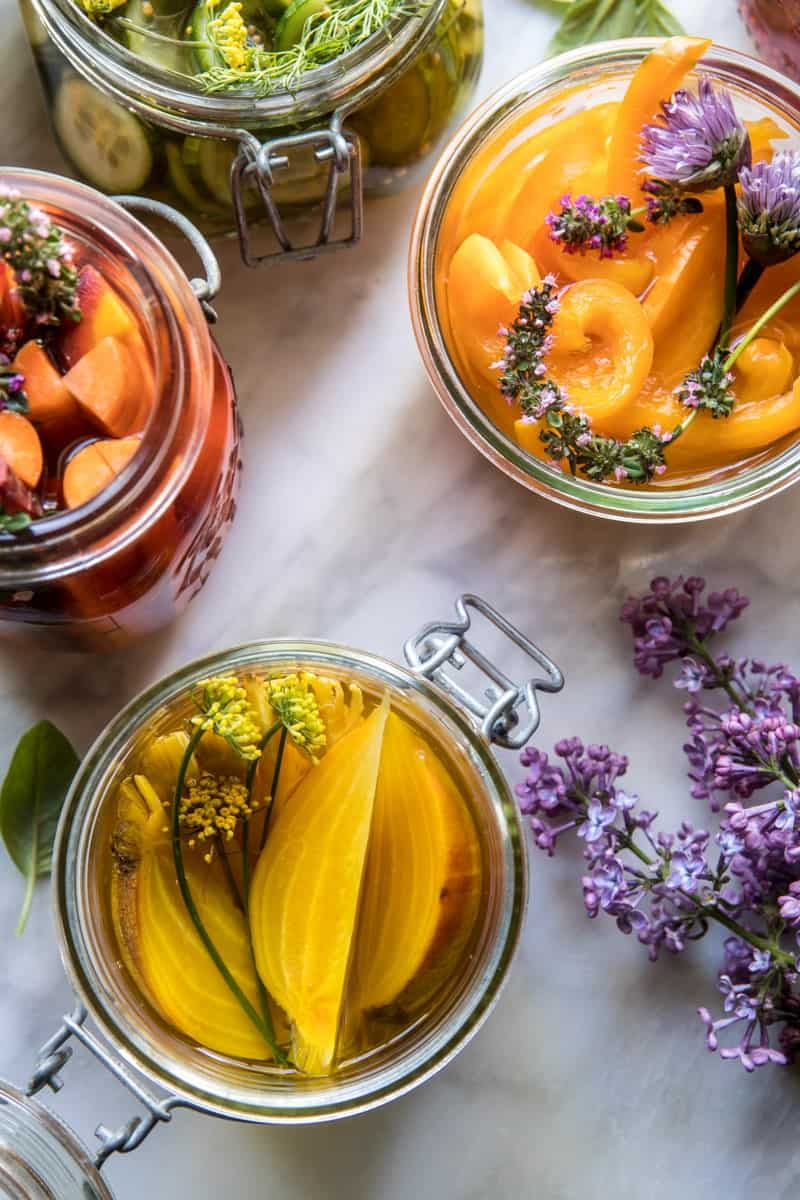 Quick Pickled Veggies | halfbakedharvest.com @hbharvest