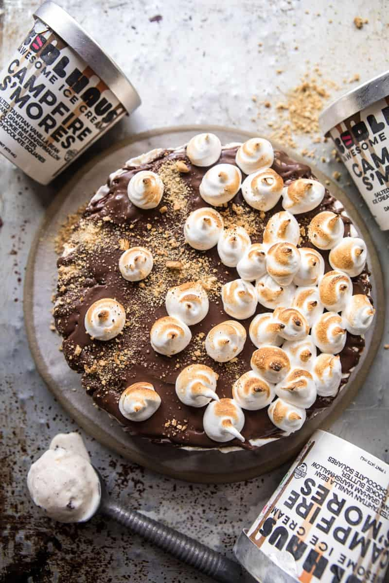 Salty Peanut Butter S'more Ice Cream Cake (VIDEO) | halfbakedharvest.com @hbharvest