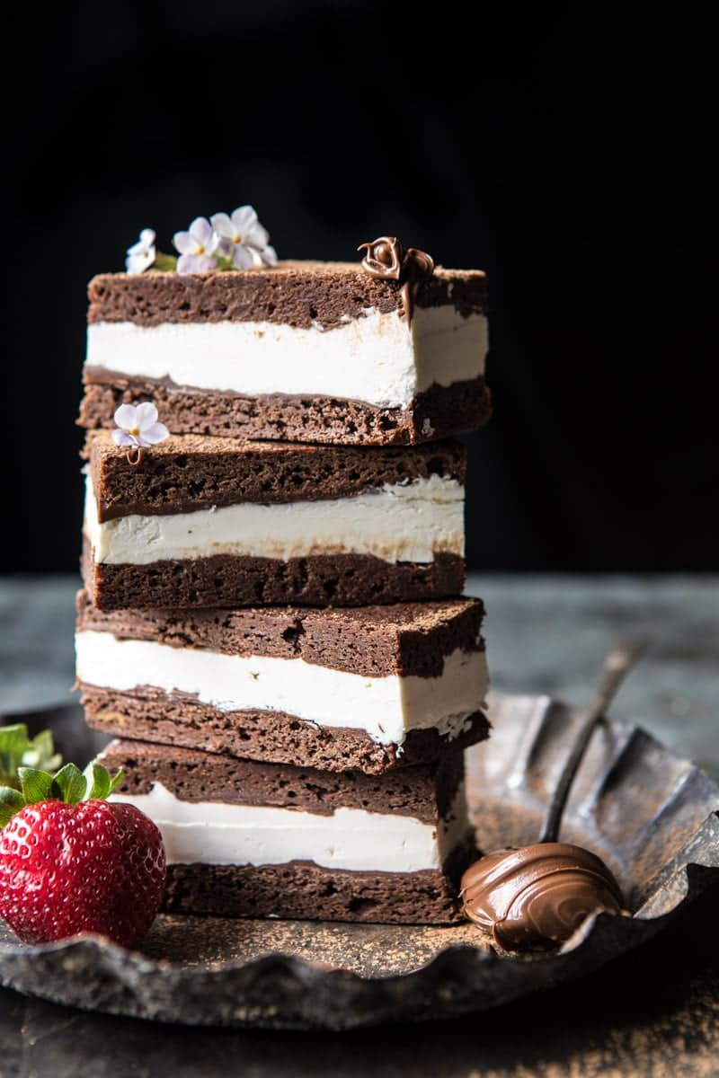 Tiramisu Brownie Ice Cream Sandwich Bars