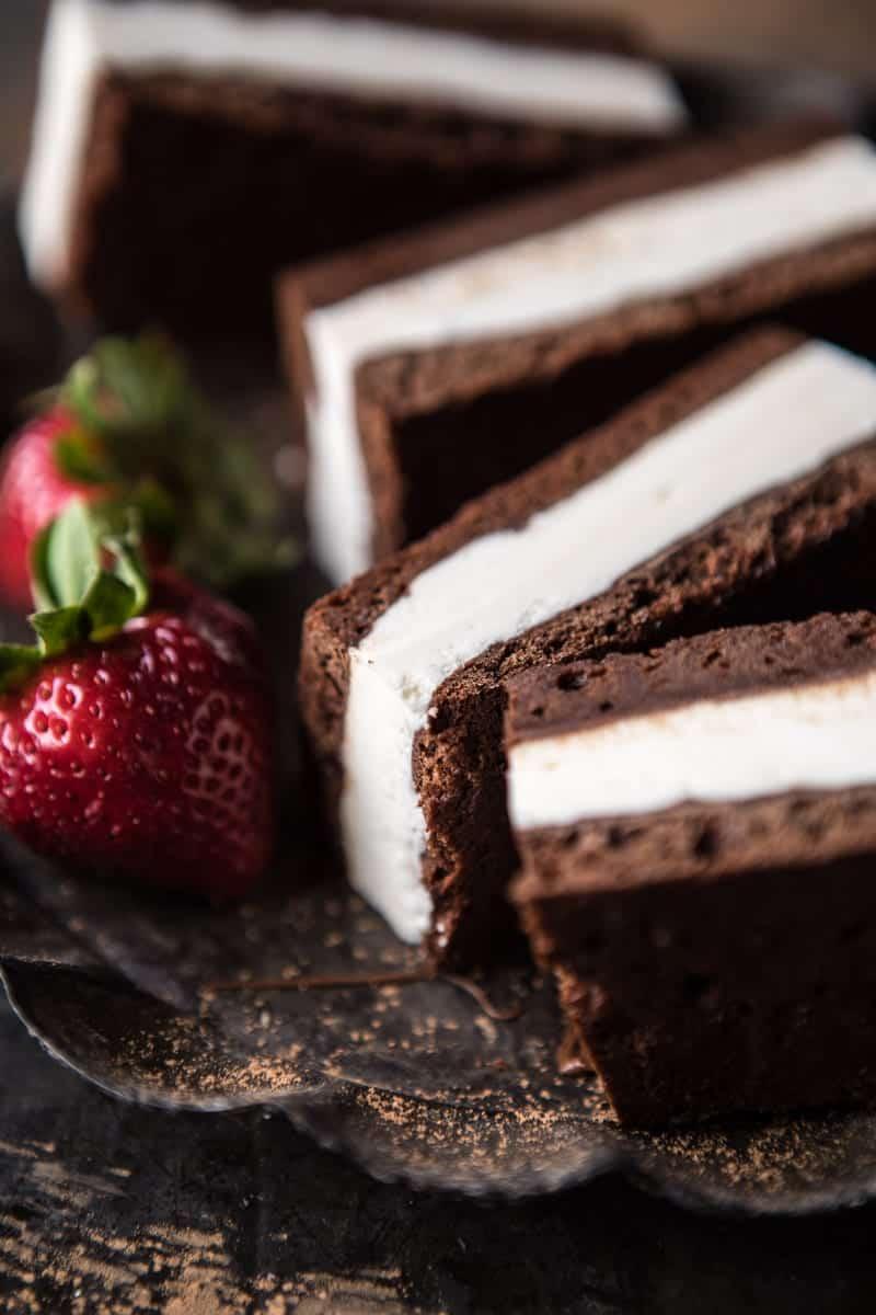 Tiramisu Brownie Ice Cream Sandwich Bars | halfbakedharvest.com @hbharvest