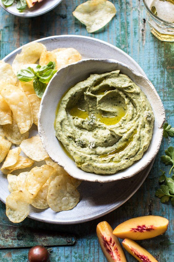 10 Minute Garden Herb Avocado Dip | halfbakedharvest.com @hbharvest