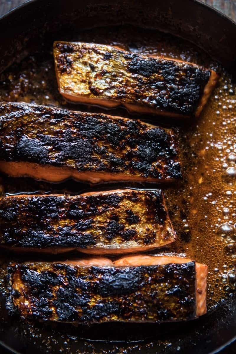 20 Minute Crispy Honey Ginger Salmon | halfbakedharvest.com @hbharvest