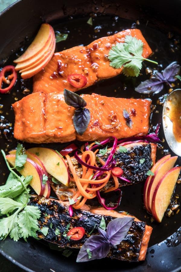20 Minute Crispy Honey Ginger Salmon   halfbakedharvest.com @hbharvest