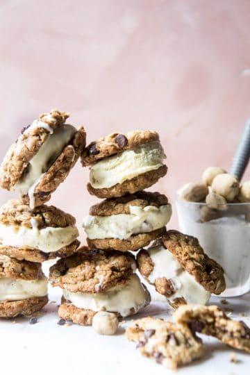 Brown Sugar Oatmeal Cookie, Cookie Dough Ice Cream Sandwiches.