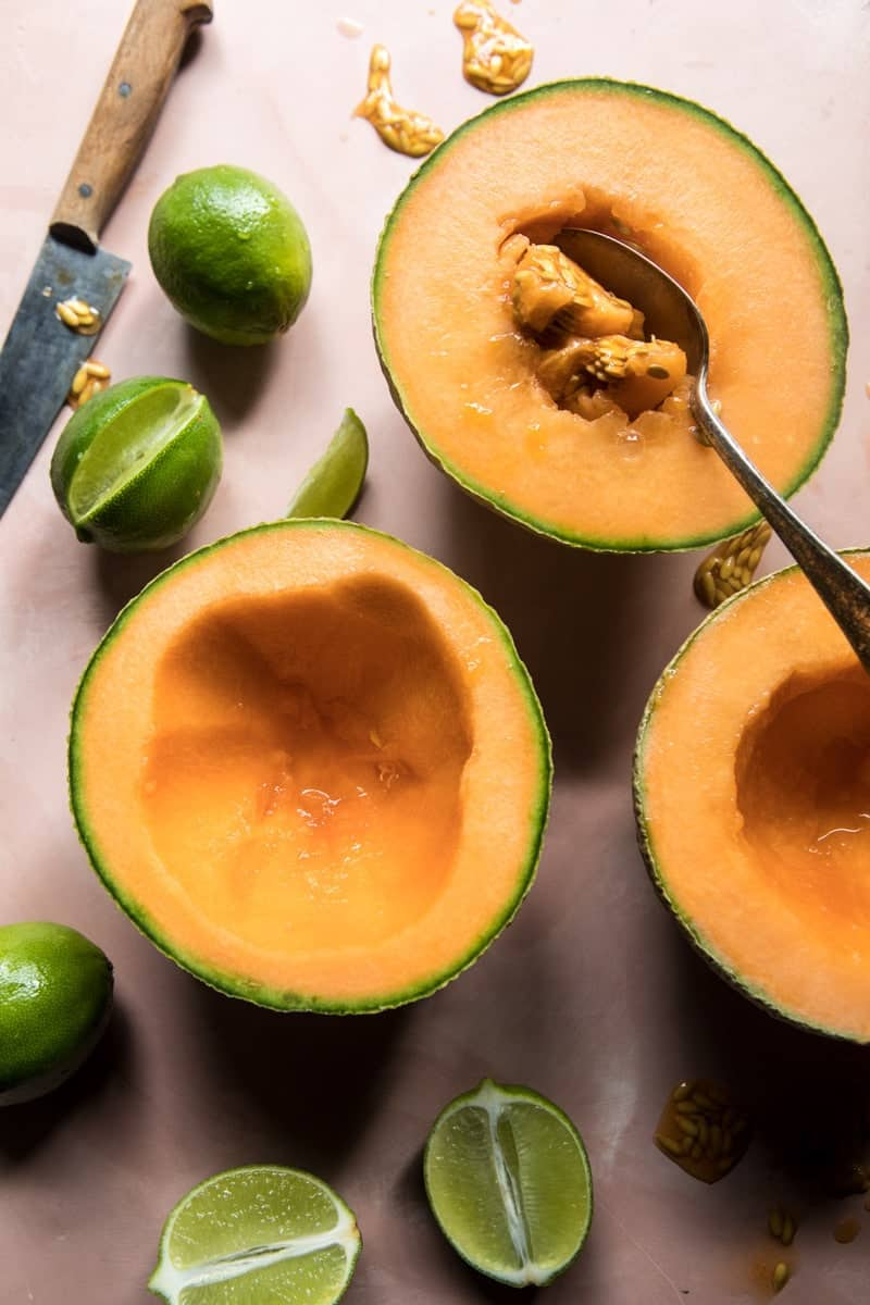 Frozen Cantaloupe Margaritas | halfbakedharvest.com @hbharvest