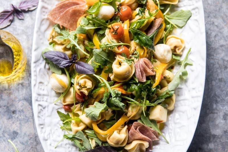 Italian Tortellini Pasta Salad | halfabkedharvest.com @hbharvest